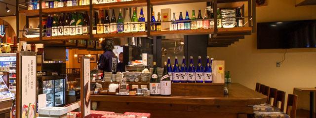 日本酒と一緒におつまみも。角打ちスペースが誕生!