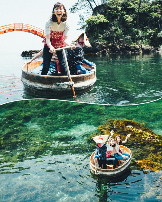 佐渡・たらい舟で海上さんぽ