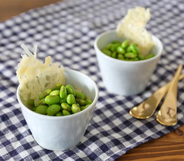 【パリパリチーズの枝豆サラダ】
