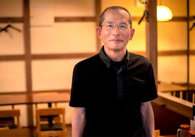 おふくろの味 案山子(かかし)の店主の阿部勝也さん