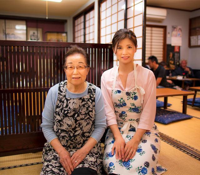 女将さんの木口栄子さんと、2代目のお嫁さんの奈美子さん