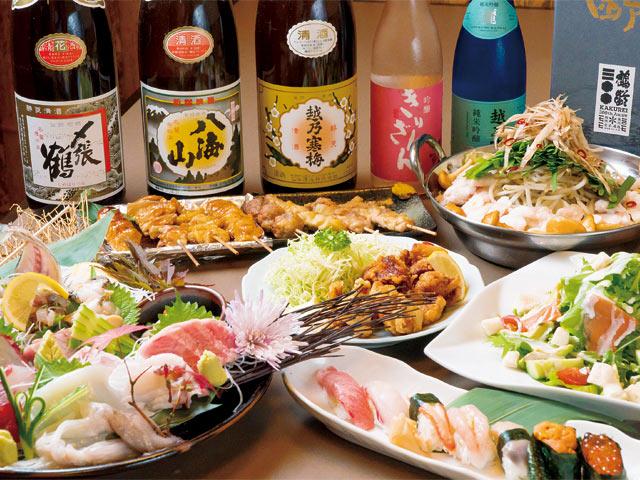 地元・新発田や新潟から毎日仕入れる鮮魚を使った和食が看板。