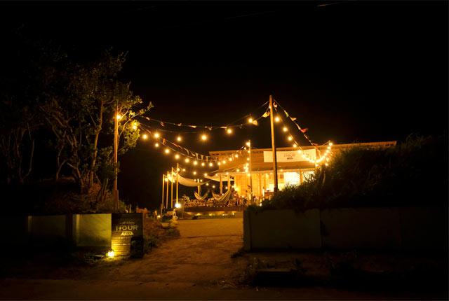 〈THE GOOD HOUR PARK〉の夜のライトアップ