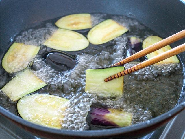 新潟産のなすの調理法・その3・揚げる