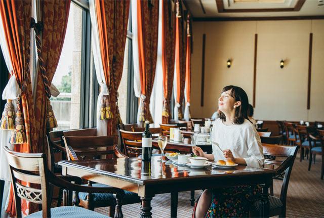ロイヤル胎内パークホテルのレストラン〈ミサゴ〉。