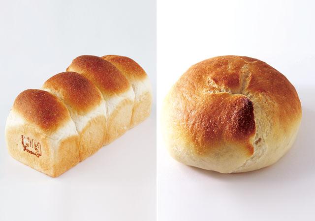 ゆきちからを使った地粉の食パン(1斤300円)と、茹でないベーグル・ビアリー(プレーン 120円)。