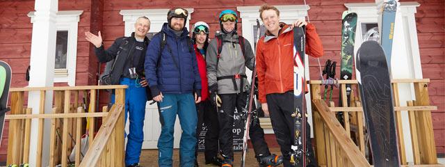 〈dancing snow〉に訪れた外国人スキーヤーたち