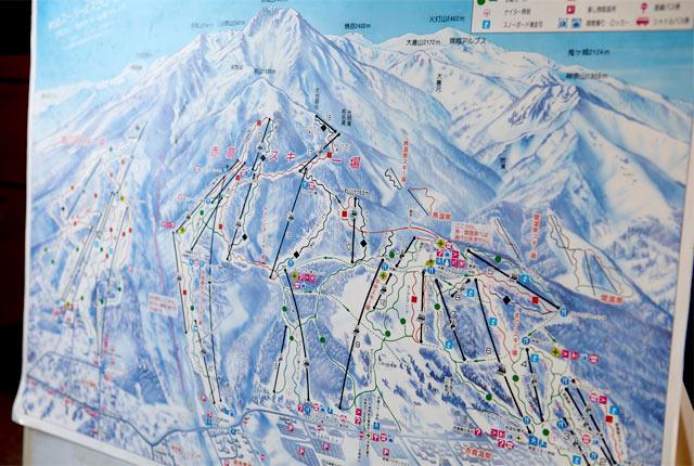 妙高高原のゲレンデマップ