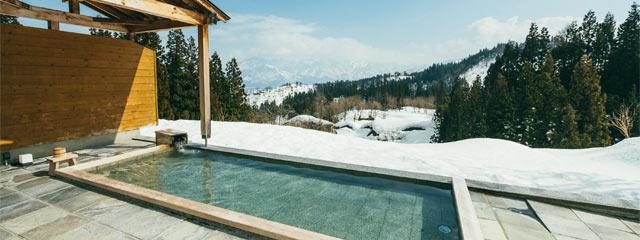 〈里山十帖〉の露天風呂