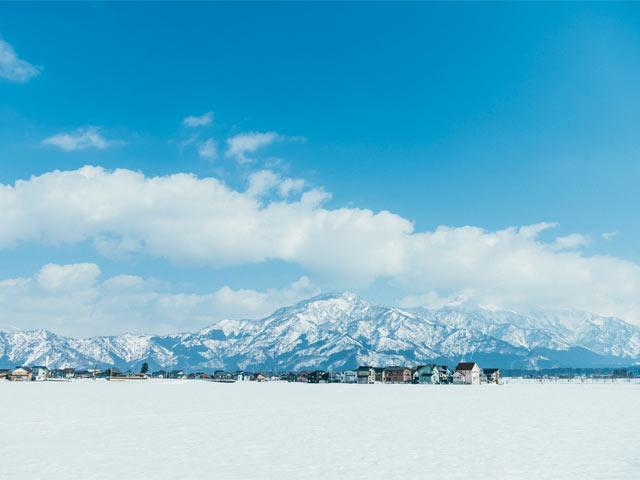 塩沢の雪景色