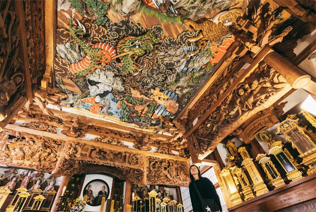開山堂の天井