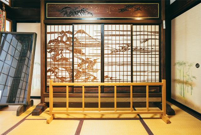 西福寺で公開されているついたて