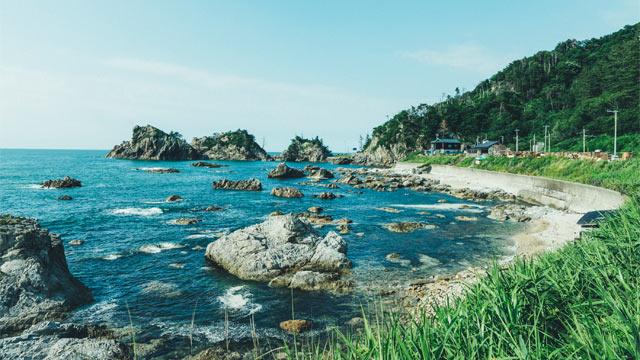 笹川流れ周辺の海岸