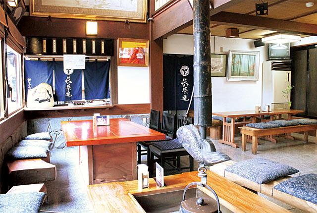 喫茶コーナー〈長栄庵〉
