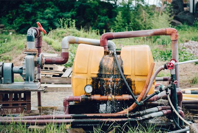 井戸水を温める装置