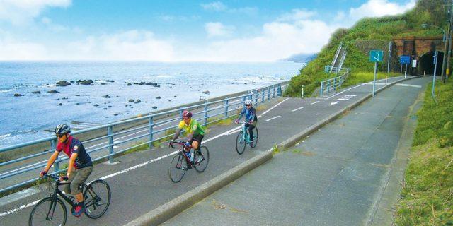 海の見える久比岐(くびき)自転車道で、秋のスタンプラリー開催