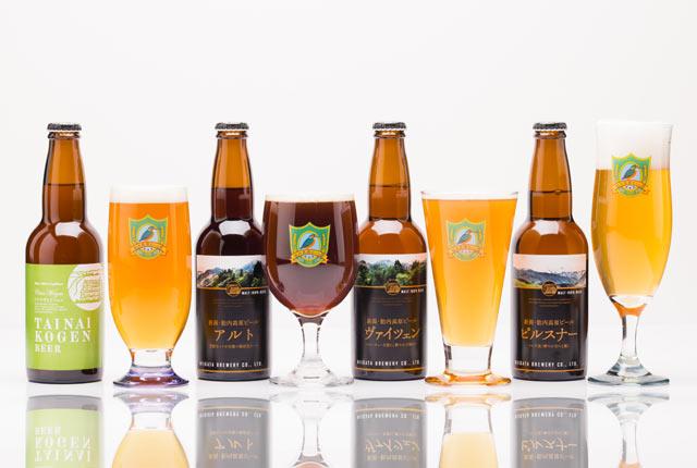 〈胎内高原ビール〉の4種類のクラフトビール