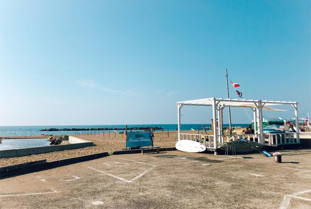 旅館の目の前には日本海