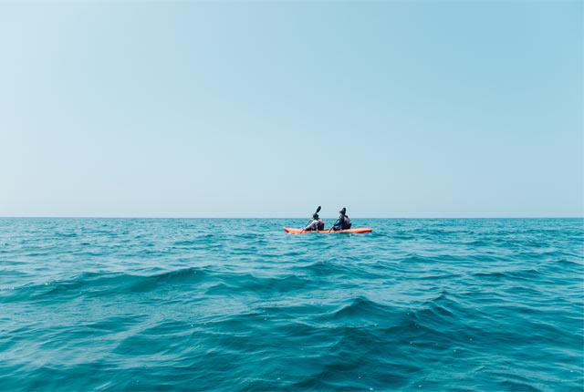 360度海に囲まれながらシーカヤック