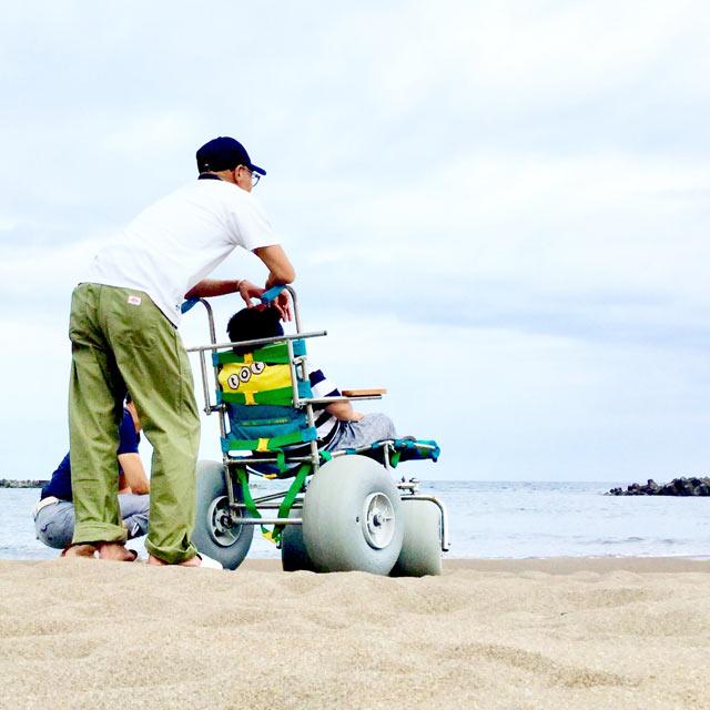 ビーチでも乗れる車椅子