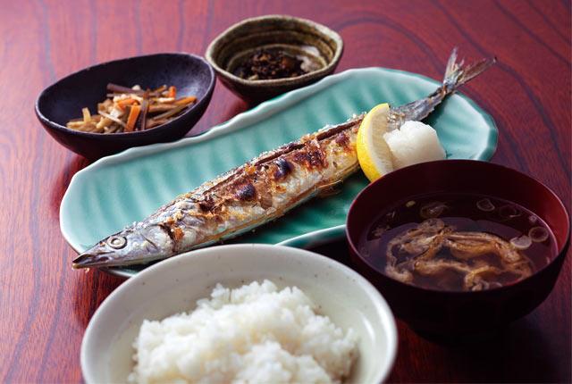 「秋刀魚の塩焼き御膳」