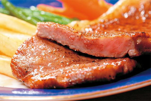 「佐渡牛のサーロインステーキ」