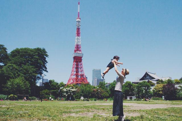 東京タワーが見える公園