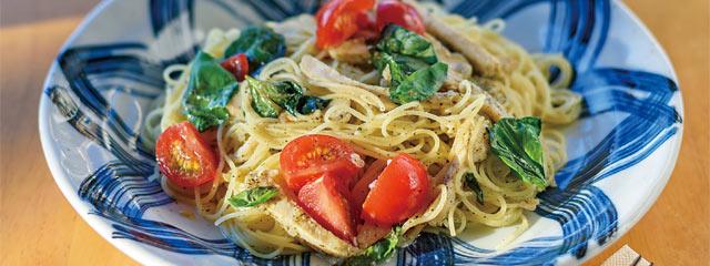 バジル塩糀スパゲティ