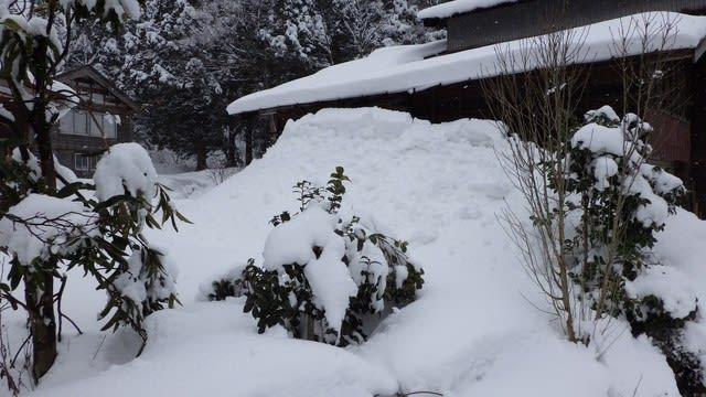 雪が積もった家