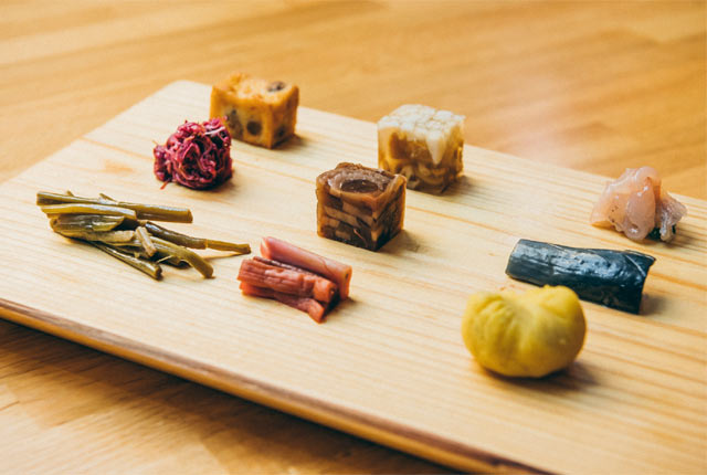 HATAGO井仙のコース料理の前菜