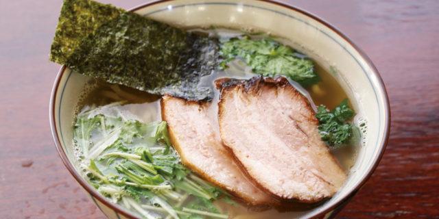 上越市〈春紀〉のめぎすらーめん。深海魚を使った淡麗系のうまさ