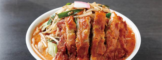 〈極濃湯麺 フタツメ〉の「辛い排骨タンメン」