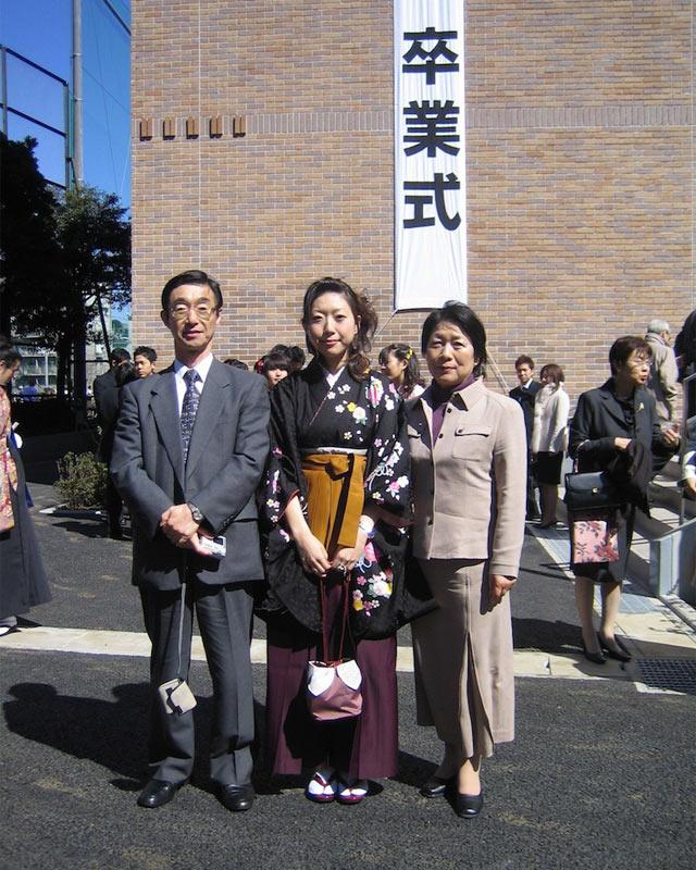 大学卒業式の写真