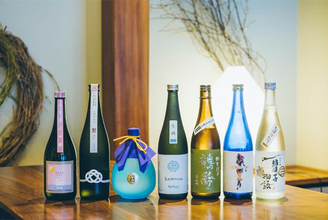 7種類の日本酒ボトル