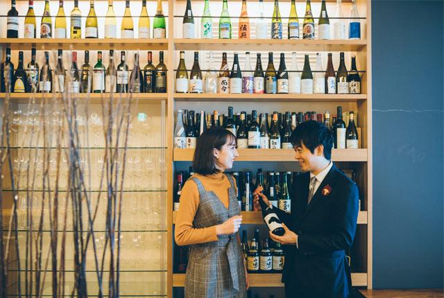 日本酒のレクチャー中