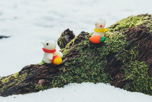 ウサギとペンギンのちんころ