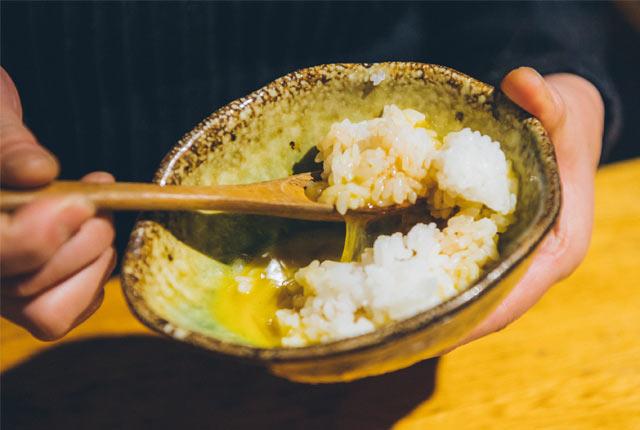 コシヒカリの卵かけご飯