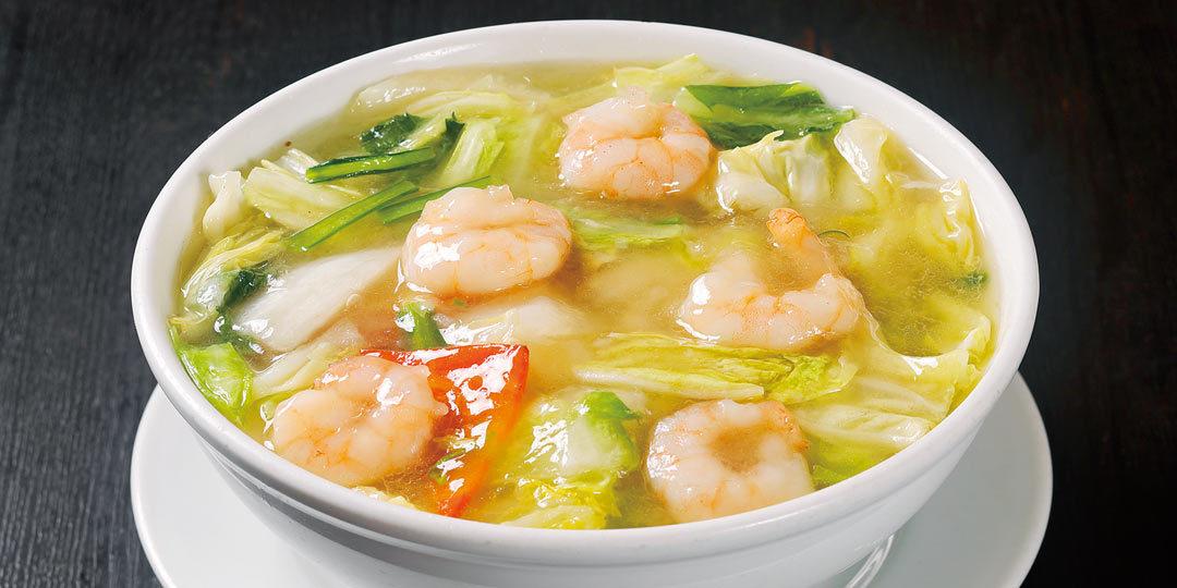 〈広来飯店 学校町店〉のエビそばと麻婆茄子飯は必食メニュー!