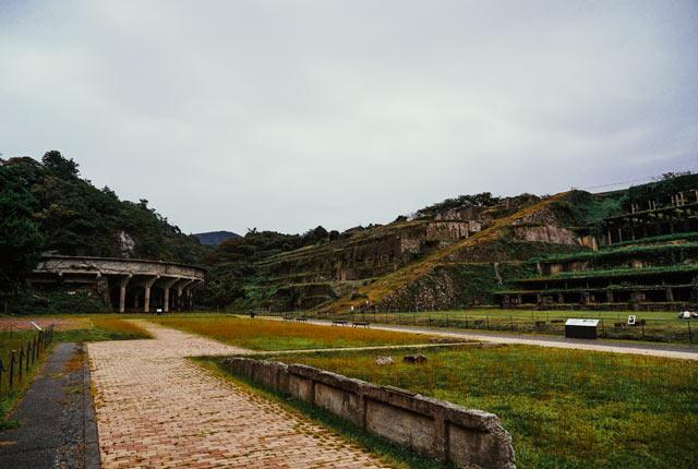 北沢浮遊選鉱場の全景