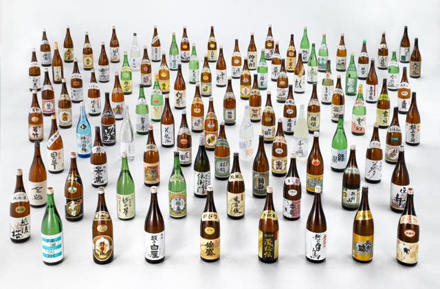 新潟でつくられた日本酒の数々