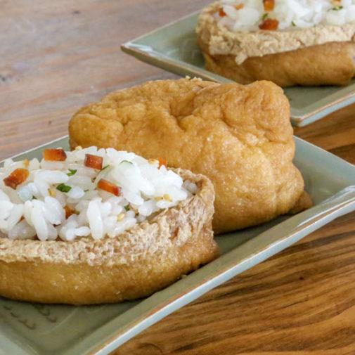 食感と風味がアクセント。「鮭の酒浸し」のいなり寿司