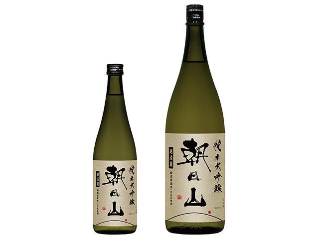 〈朝日山 純米大吟醸 越淡麗〉の瓶