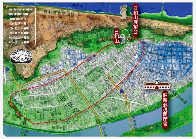 カシミール3D地形図