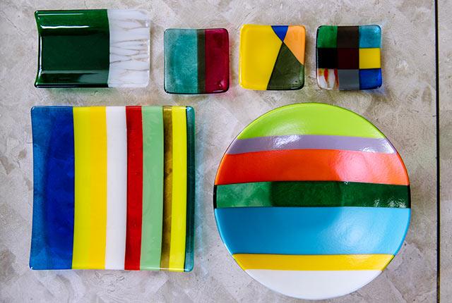 角皿と丸皿