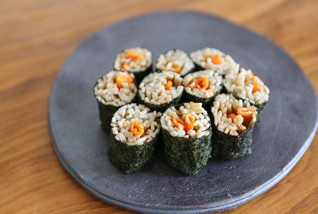 完成したそば寿司