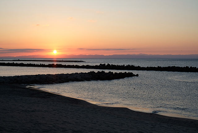 〈Sea Point〉から眺める海に沈む夕日
