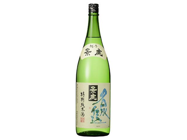 〈越乃景虎 名水仕込 特別純米酒〉の一升瓶