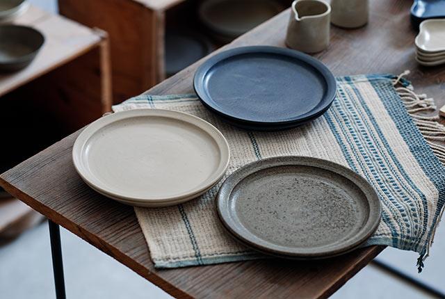 3種類の丸皿