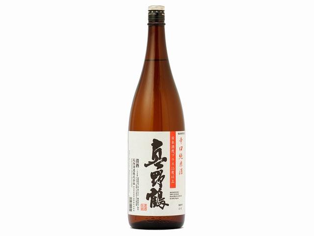 「真野鶴 辛口純米酒」の一升瓶
