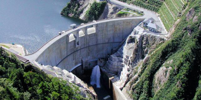 下流からの奥三面ダム-5